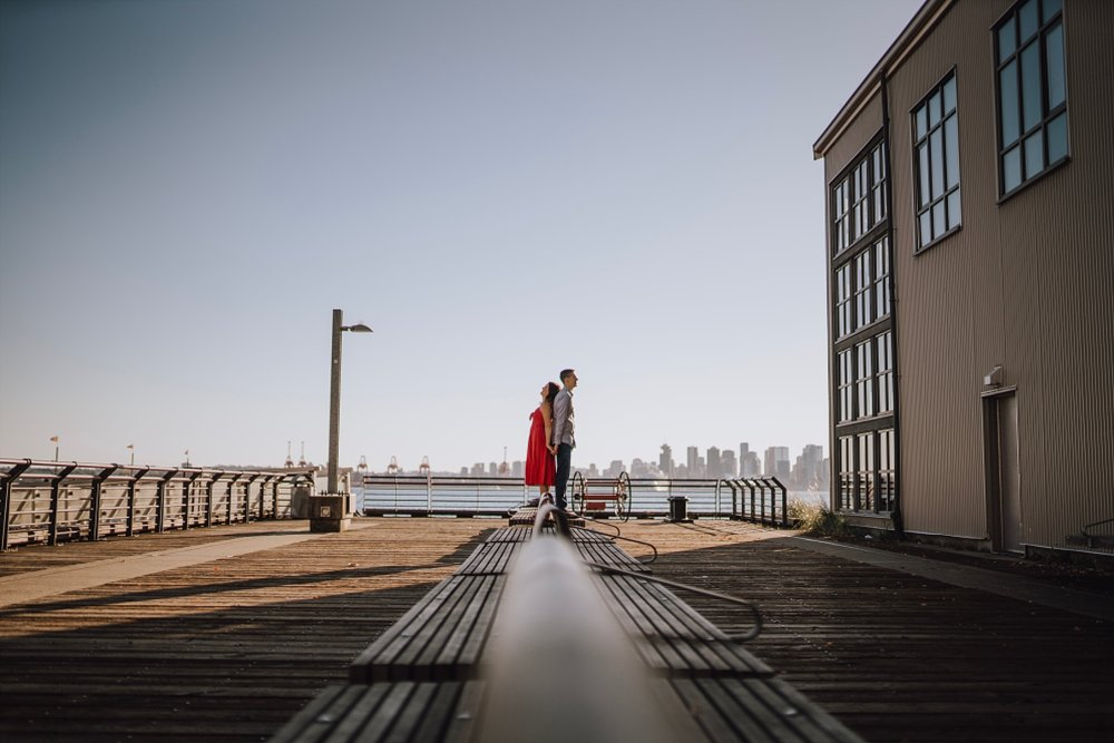 vancouver engagement summer sunset photos