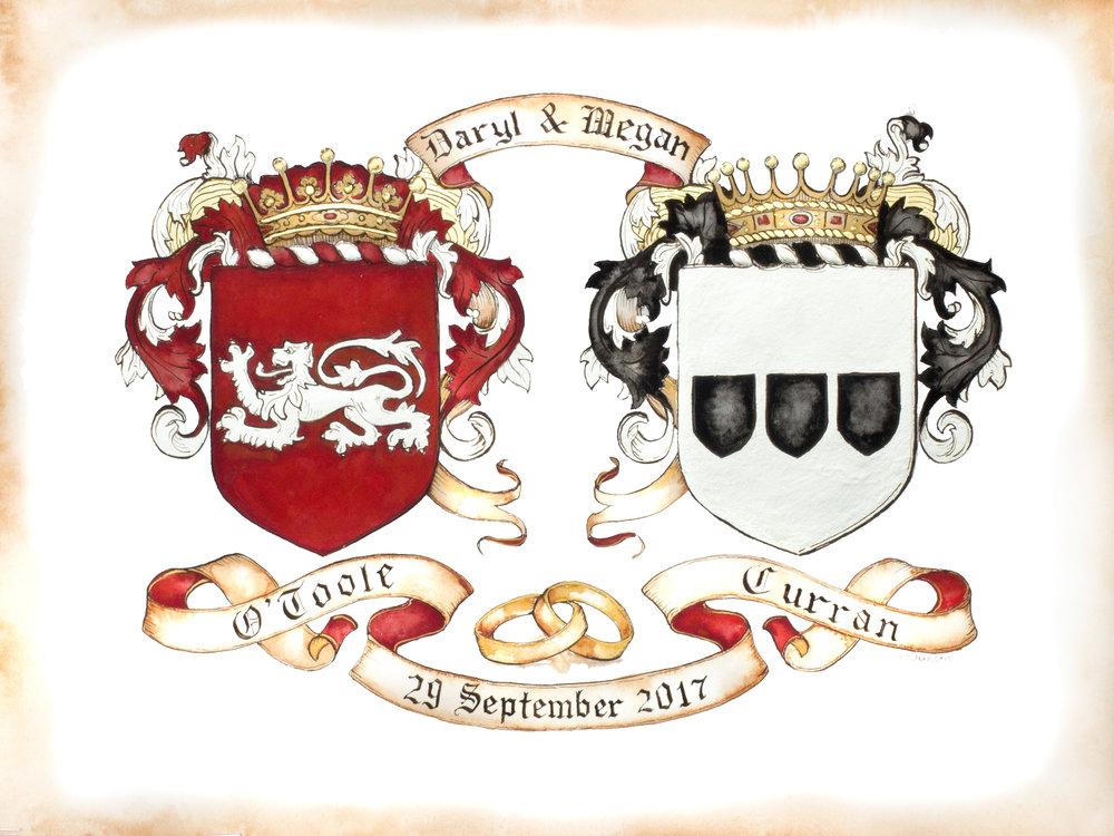 conjugal coats of arms -
