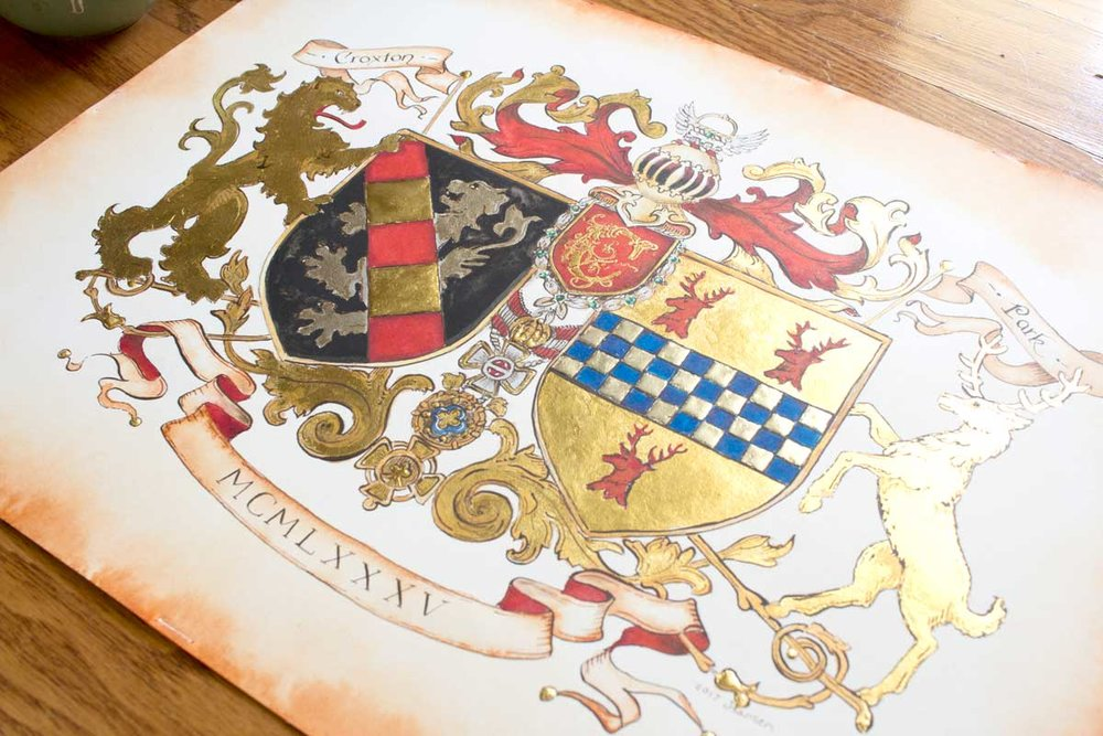 Conjugal coat of arms by Jamie Hansen