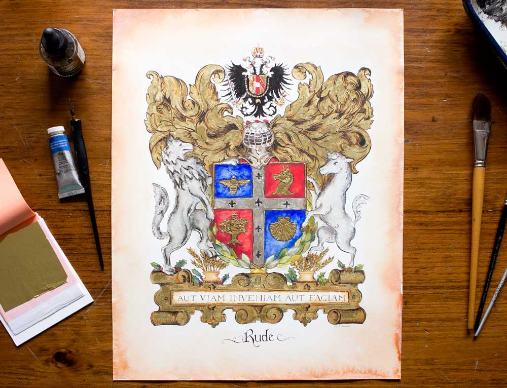 custom coat of arms by Jamie hansen