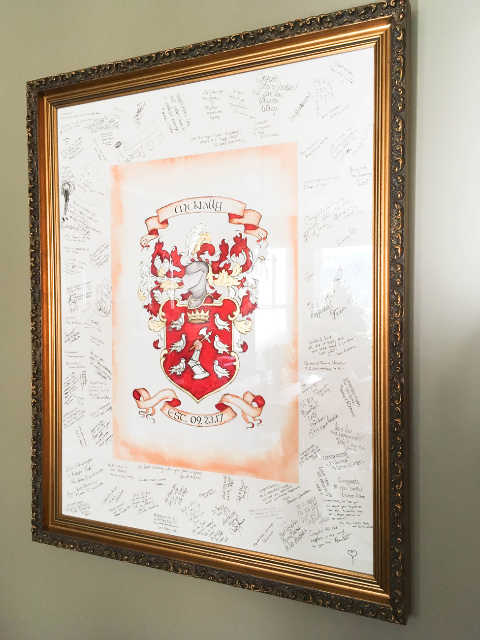 As a guestbook - Use your matting to create a wedding guestbook or for a personalized touch at your next event