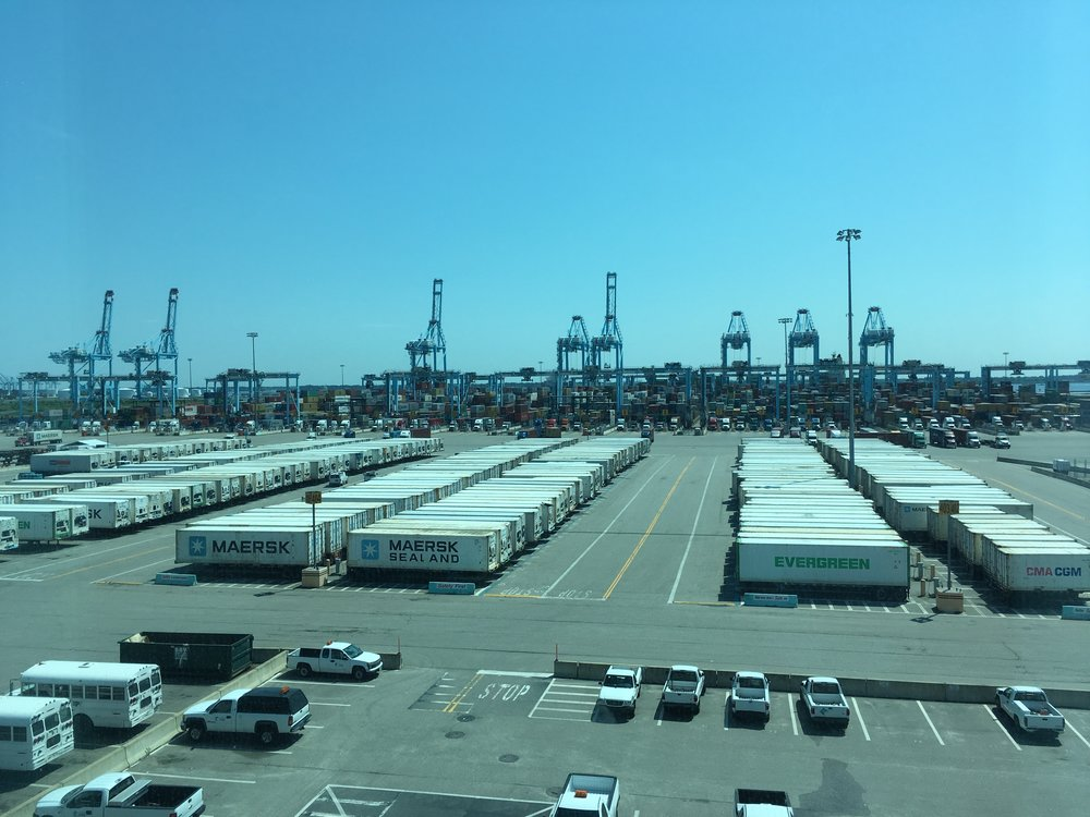 Automated container terminal, Hampton