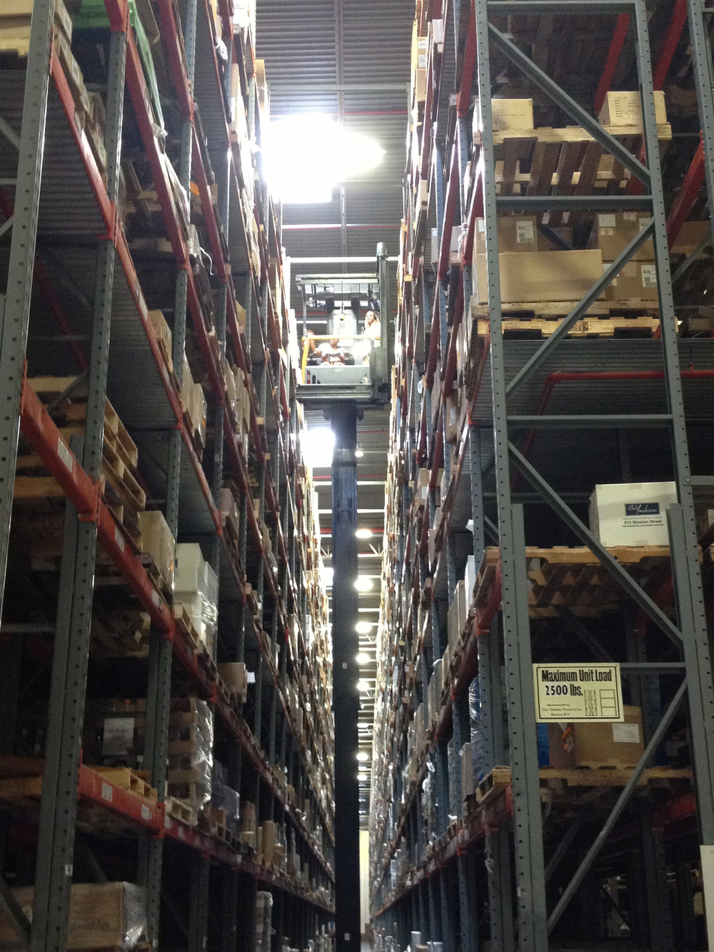 View from the top of the Automatic Storage Retrieval System