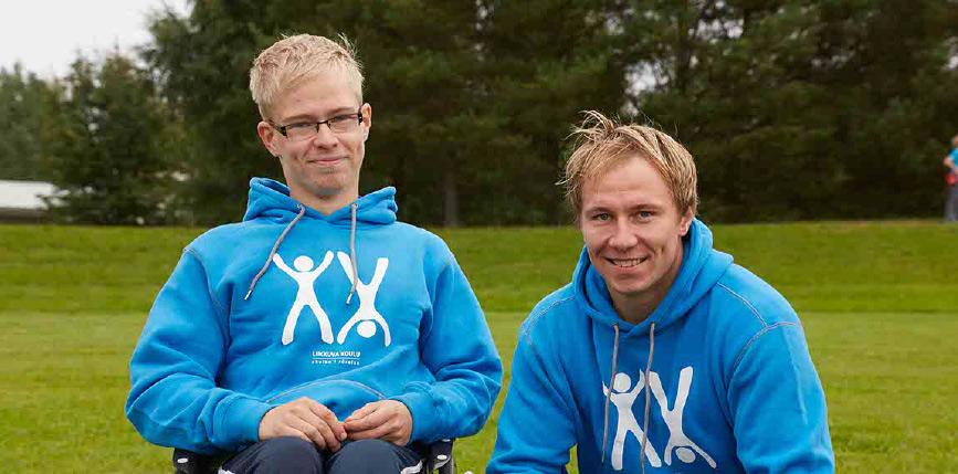 Jussi Jokisen kanssa Liikkuva Koulu projektissa.