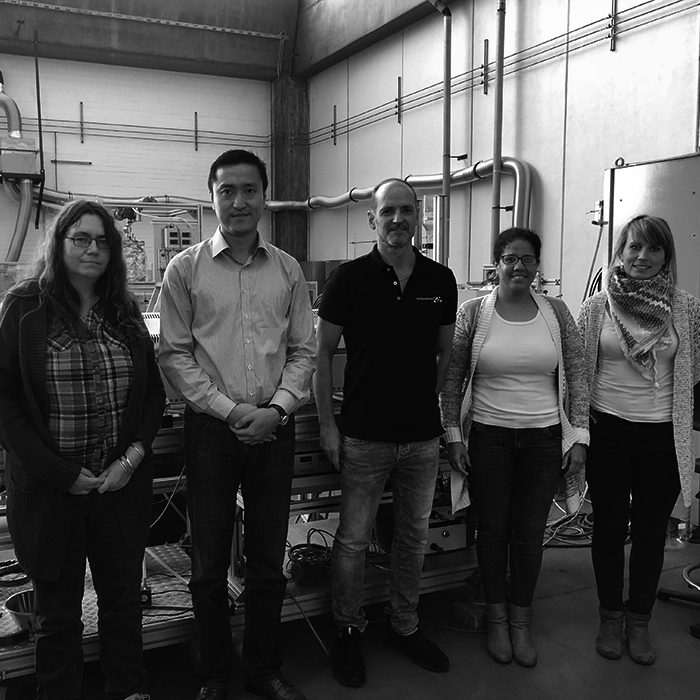 Prof. Dr. Andrea Kruse, Jifeng Guan, Torsten Becker, Dr. Rodriguez, Doktorandin Hoffmann (v. l.)