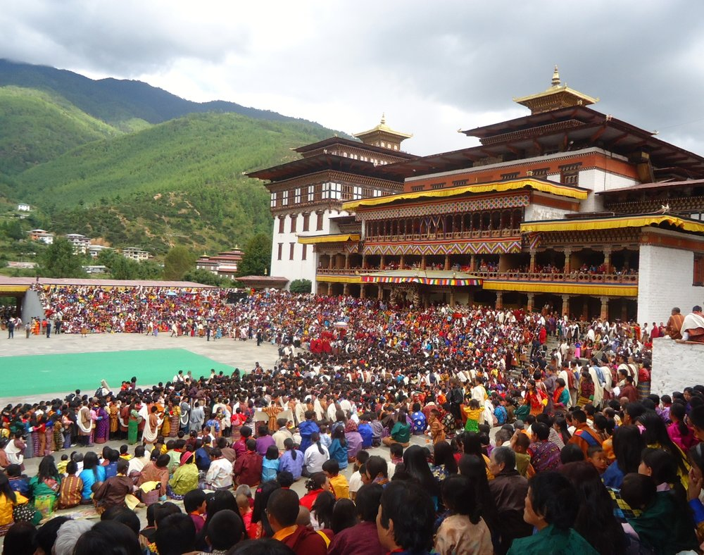 Thimphu Tsechu is the largest gathering in the country for any tsechu