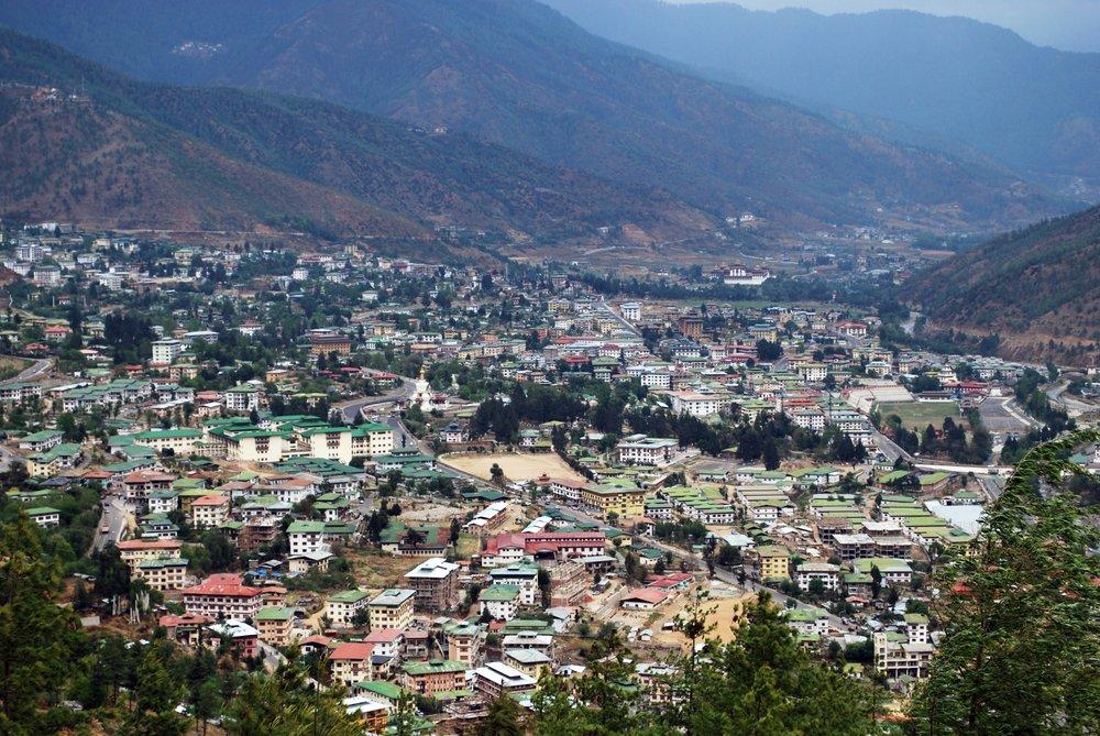 Bird's eye view of Thimphu city.JPG