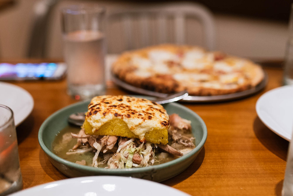 Smoked chicken sugo - grits al forno