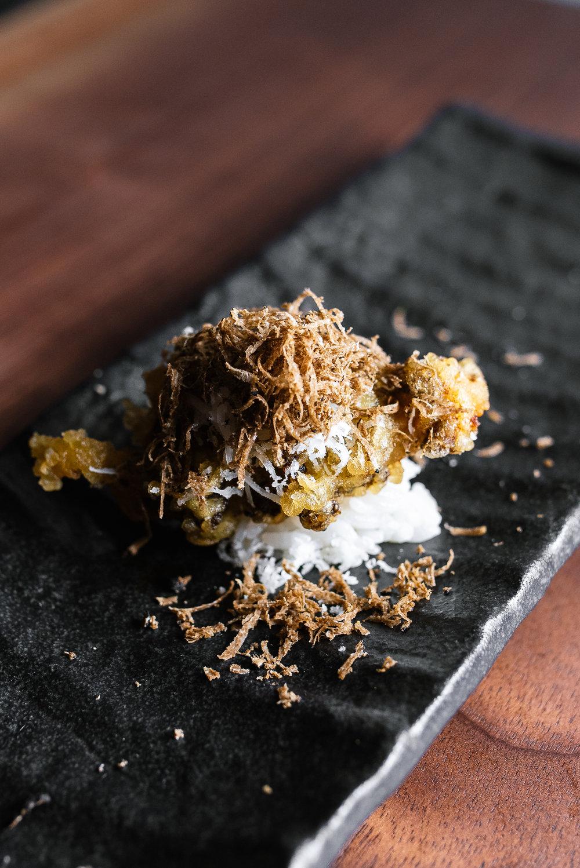 Maitake mushroom tempura - fried, aged parmesan, black truffle