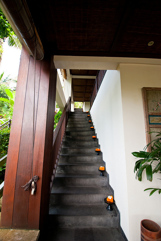 stairs Ubud Hanging Gardens bali