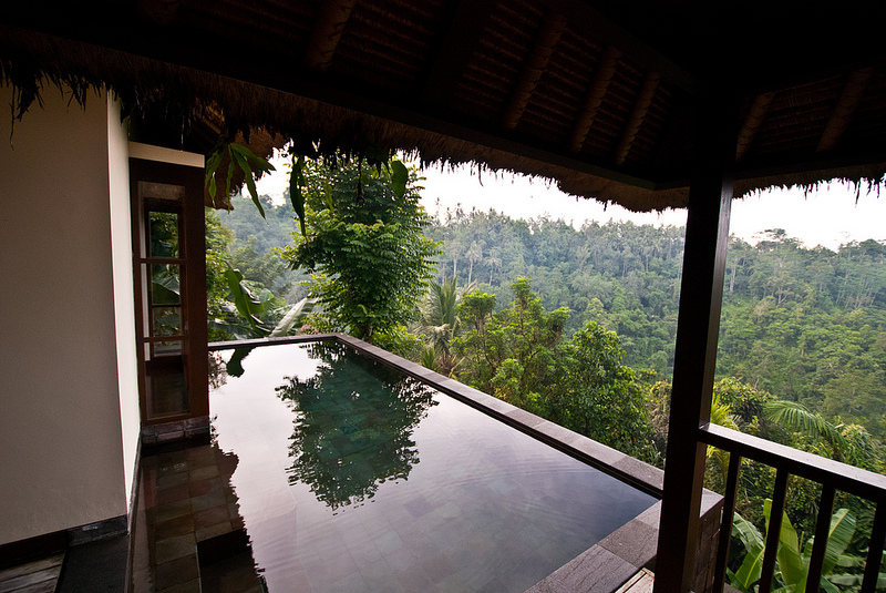 private pool Ubud Hanging Gardens bali hotel
