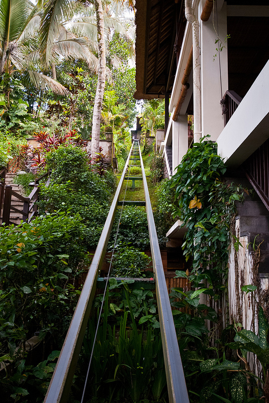 funicular Ubud Hanging Gardens bali