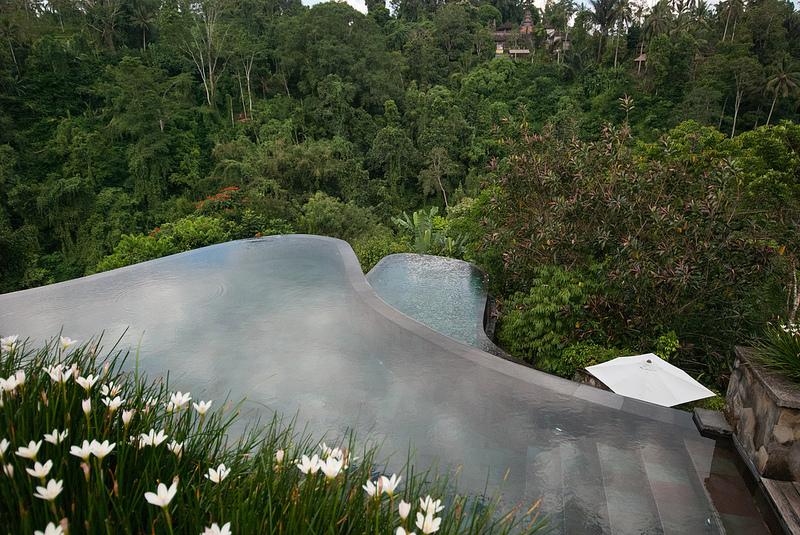 pool deck Ubud Hanging Gardens bali