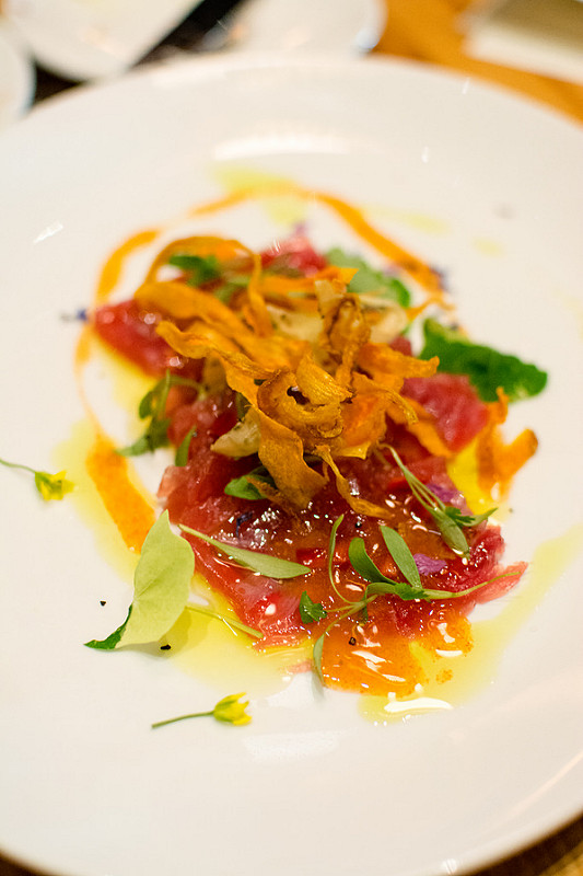 Tuna Crudo The Restaurant at the Cheshire st.louis