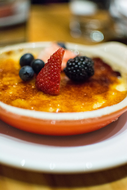 creme brulee The Restaurant at the Cheshire st.louis
