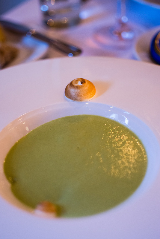 asparagus soup Niche Restaurant st.louis
