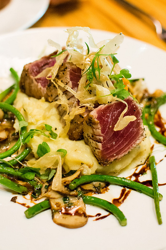 ahi tuna The Restaurant at the Cheshire st.louis