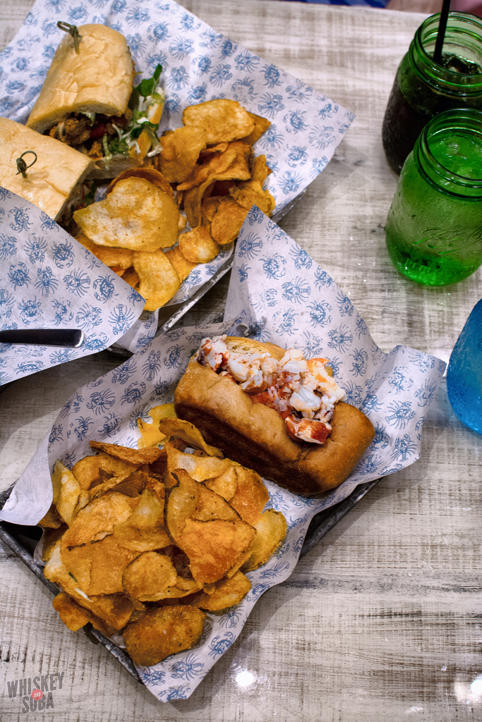 lobster roll chips Peacemaker Lobster and Crab st.louis