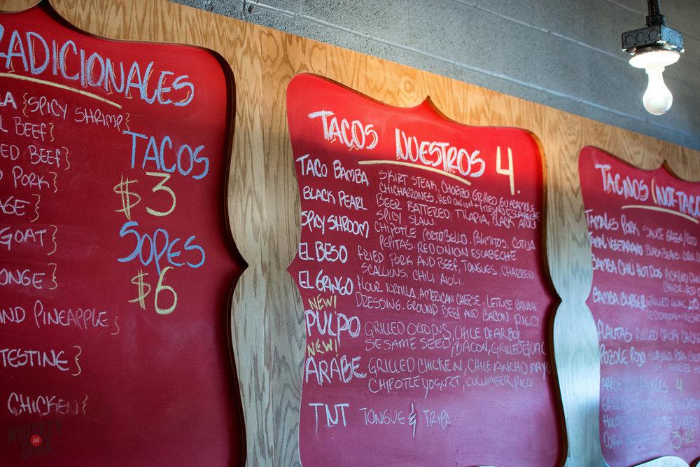menu Taco Bamba dc