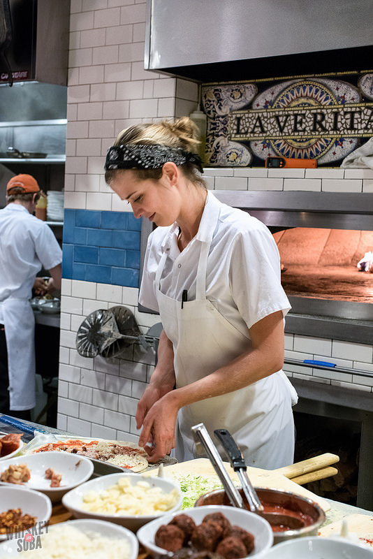 Chef Evy at Pastaria