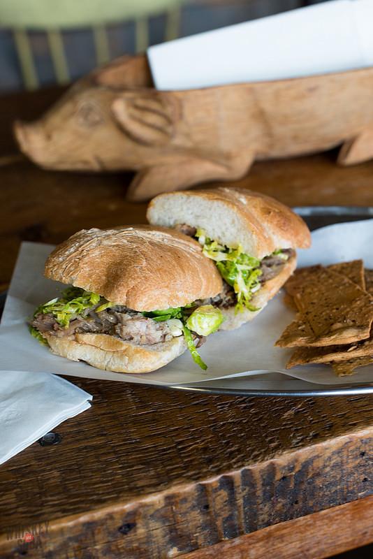 Pulled Pork sandwich at Salume Beddu