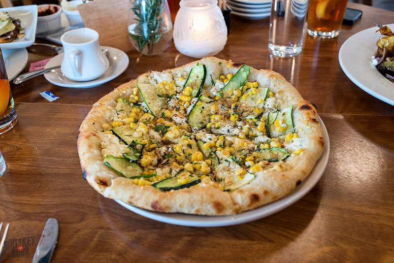 Corn Pizza at Katie's Pizza and Pasta
