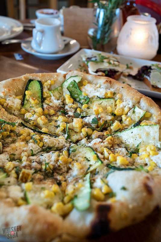 Corn Squash Pizza at Katie's Pizza and Pasta
