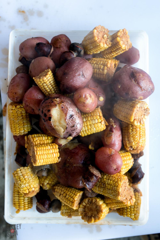 Corn & Potatoes at the Crawfish Boil