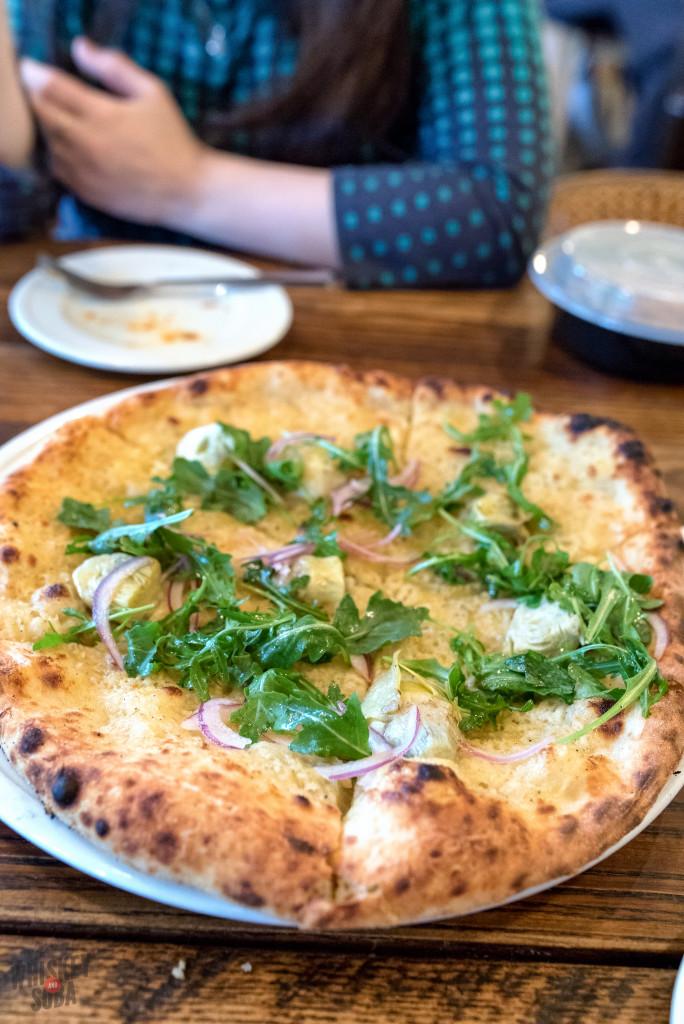 Salt Cod Brandade pizza at Pastaria-Avec Collaboration Dinner