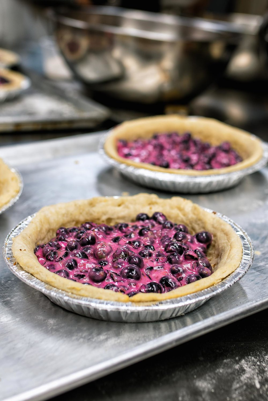 Blueberry pie - ginger, lemon