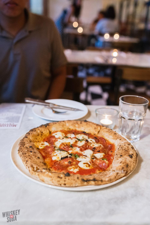 Soppressata Pizza at Motorino Singapore
