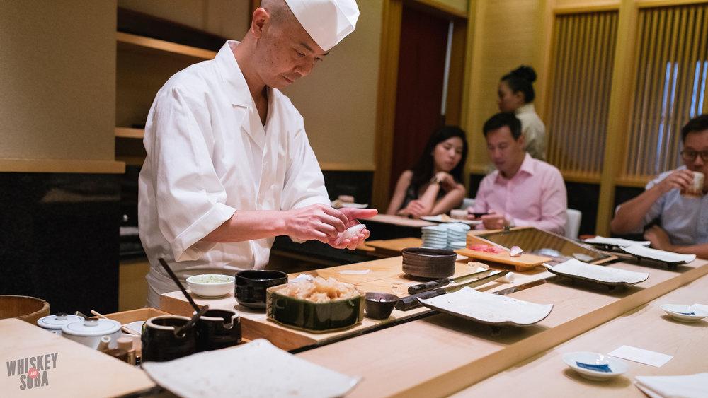 Sushi Making at Shinji by Kanesaka