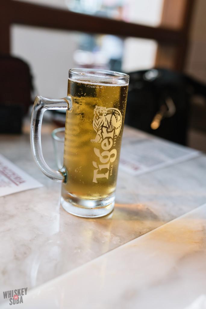 Tiger Beer at Motorino Singapore