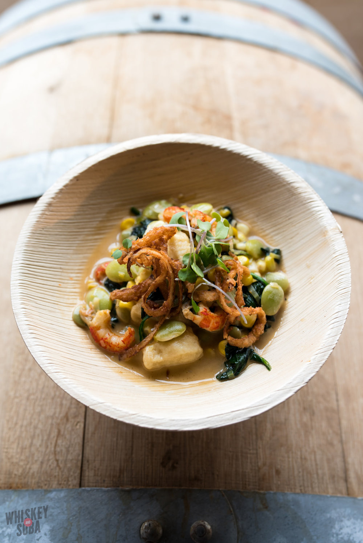 Chef Russ Bodner Gnocchi and crawfish