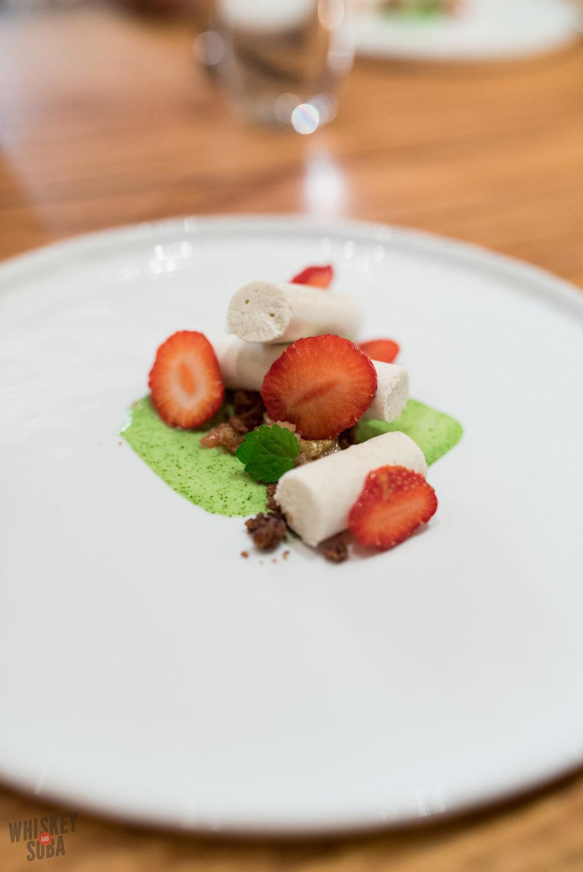 niche sarah osborn blue strawberry dessert