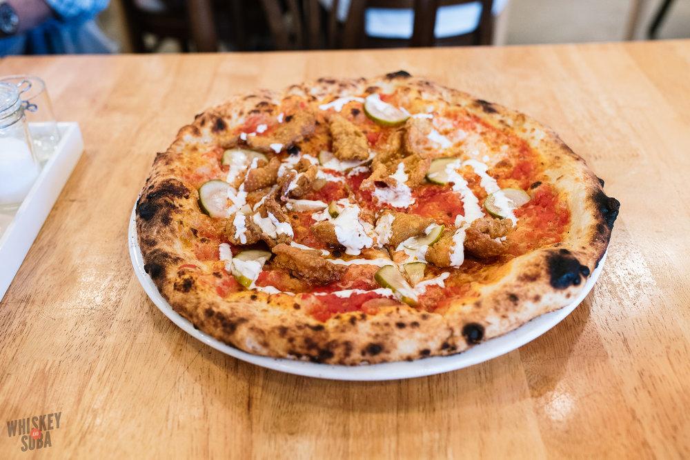 pastaria st.louis hot chicken pizza