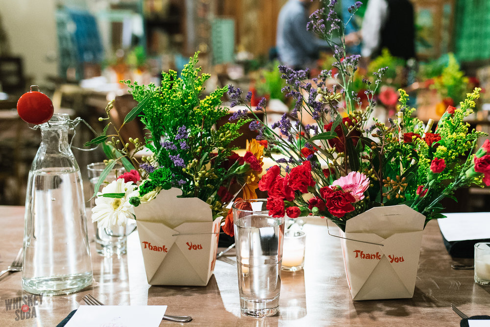 the silk rodeo table flowers