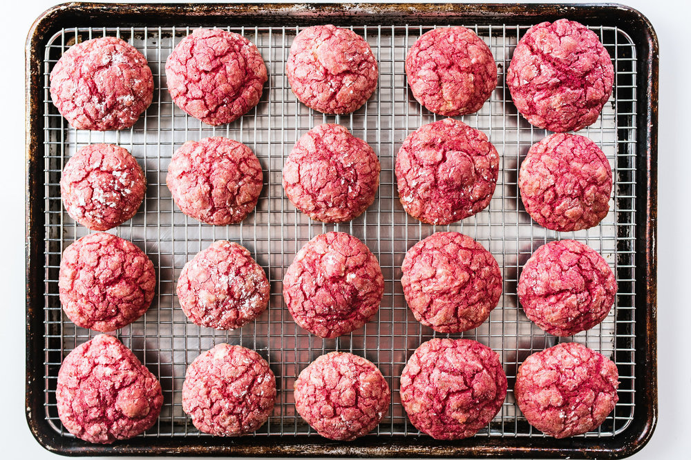 Beet & Lemon Gooey Butter Cookies
