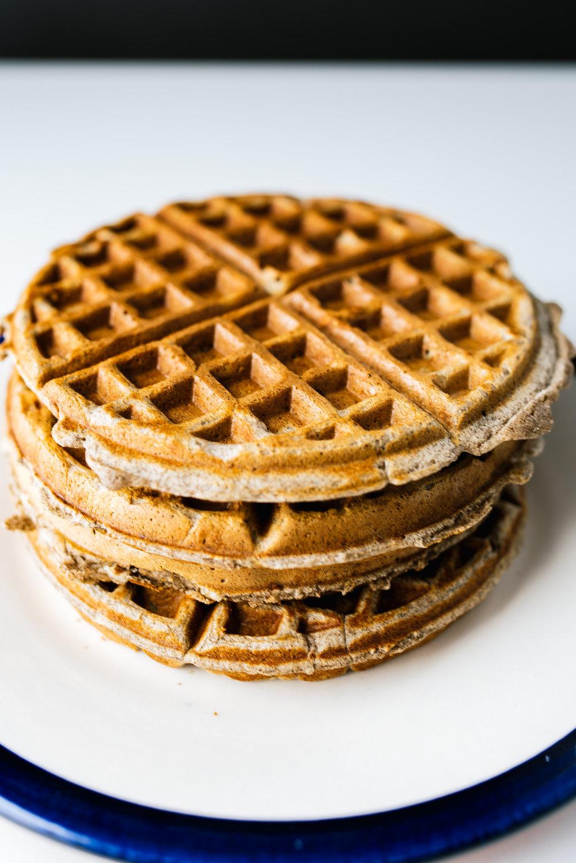 Buckwheat & Pecan Waffles -