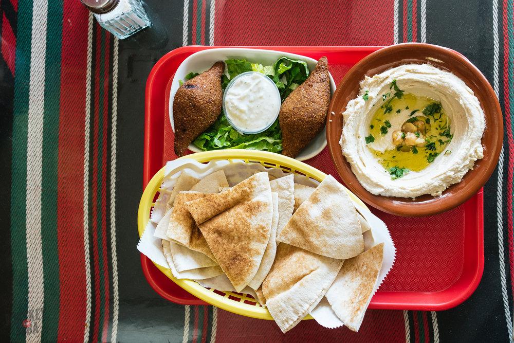 Red Hots Albasha: Hummus & Kibbeh