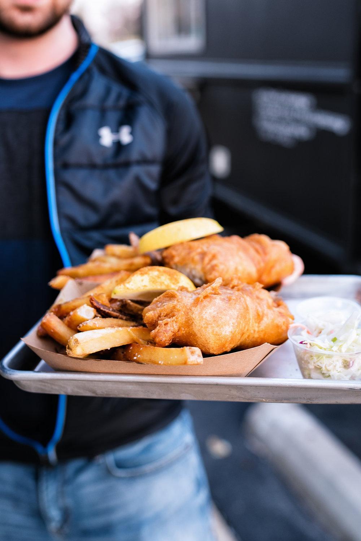 Fish & CHips - fries, lemon, slaw