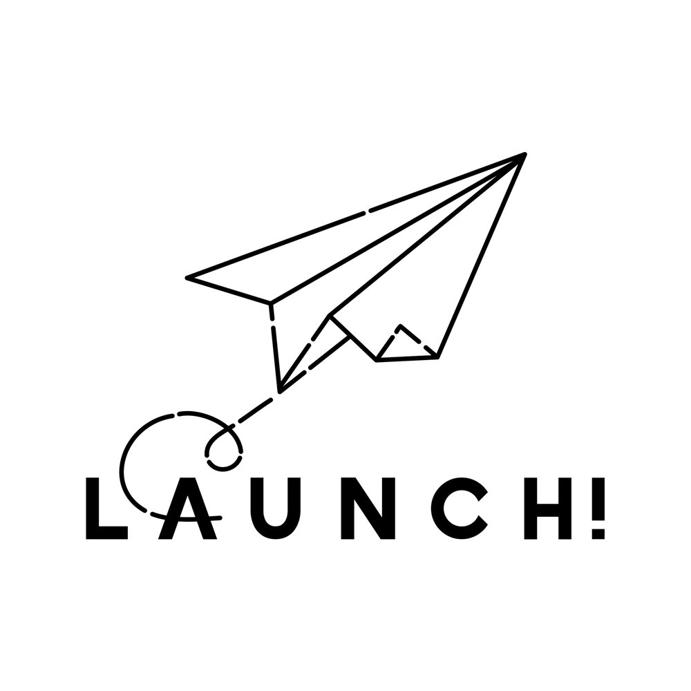 Launch! Logo Design - A hand drawn logo - from first concepts to final delivery.