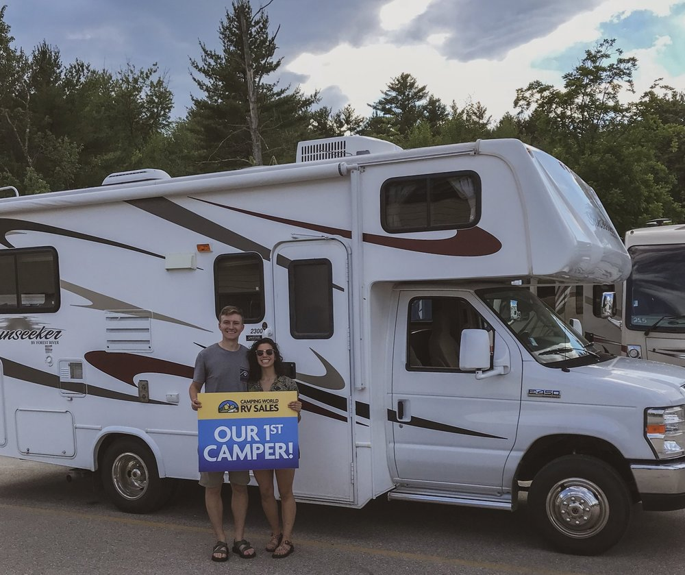 All smiles because we just bought our RV! Conway, NH