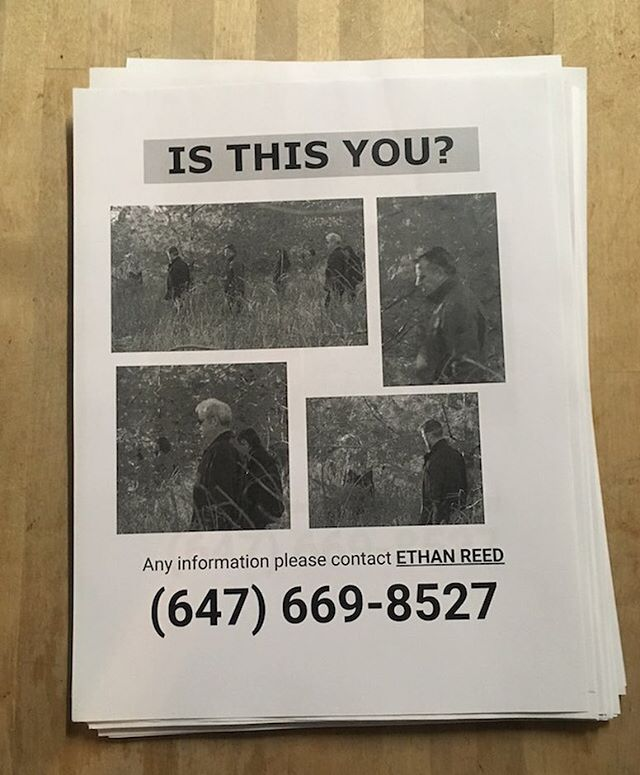 "In the latest episode, you saw that Ethan made posters to put around town. Since the cops think our video is a hoax, we've decided to help Ethan out and take matters into our own hands. The posters have images of other people who have been in the woods ""trancing"" with him. If you know anyone in this poster, or those who were in our episode, please get in touch at the number listed."