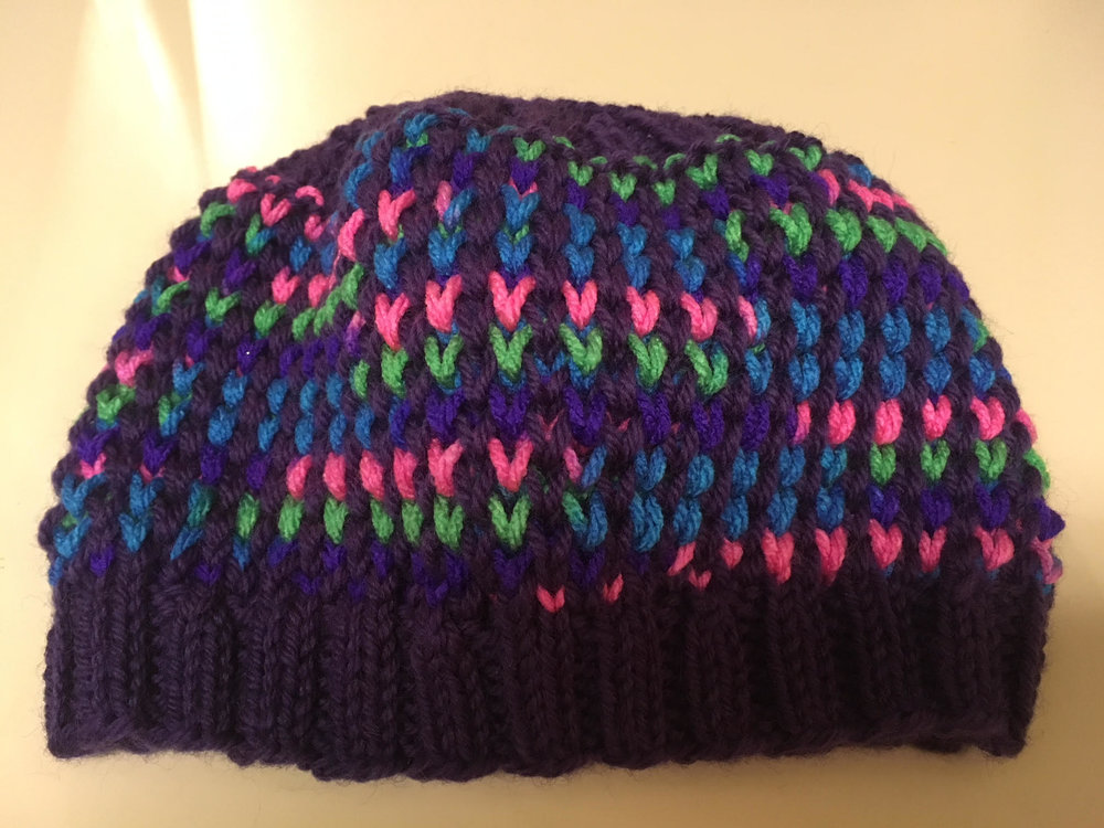 Another close up view of Laura's hat.