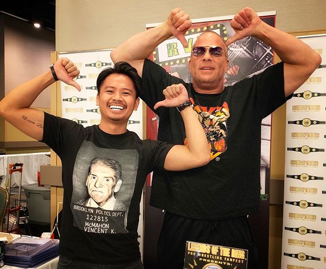 waited 18 years for this so u know I had to do it to em #rvd #wrestlecon