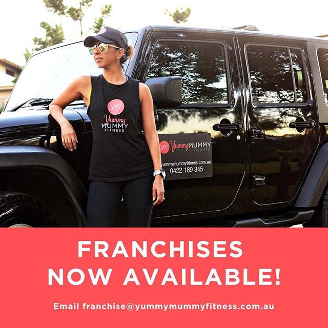 CALLING ALL PERSONAL TRAINERS 📢 In case you missed the news last week, we announced that Yummy Mummy Fitness now has FRANCHISES AVAILABLE! For the first time ever, we are providing one of the only business opportunities where BEING A MUM IS AN ASSET! Our franchise system has been developed for mums who are personal trainers (or who want to be a personal trainer) who are looking for genuine work opportunities that is flexible to the needs of motherhood. You do not need to choose over work or family, owning a Yummy Mummy Fitness franchise means you can have it all! For more information, visit our website or email franchise@yummymummyfitness.com.au.