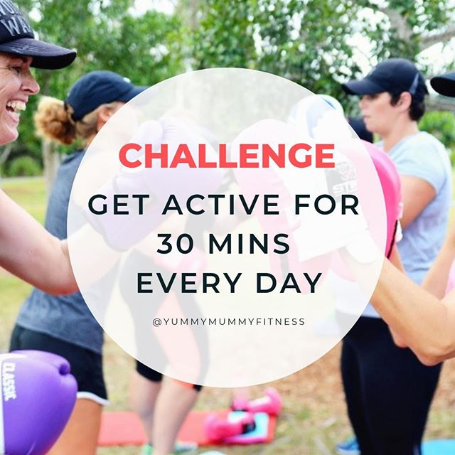 If you want to get healthier and fitter, aim to get active for at least 30 mins per day. Easiest place to start is going for a daily walk. Health and fitness does not have to be complicated or confusing. Just start with this challenge and you'll be amazed at the benefits, once it becomes a habit.⠀ ⠀ #yummymummyfitness #goldcoastmums #goldcoastfitness #goldcoastbootcamp #mummyfitness #mumfitness #fitmums #fitmummy #fitmumma #mumswhoworkout #mumswhotrain #strongmum #postnatalfitness #postnatalexercise #postnatal #postpartumbody #mumsandbubsfitness #postbabybod #postbabyweightloss #healthymummy #getactive #activelifestyle