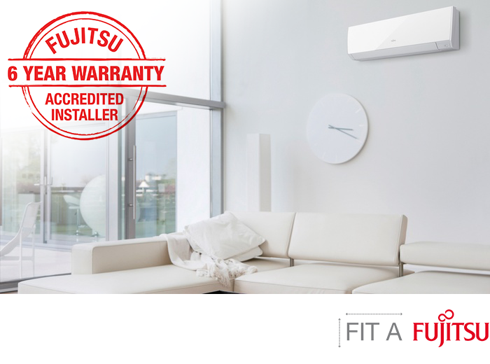 ACCREDITED INSTALLER - Of Fujitsu heatpumps giving you a 6 year warranty. Warm up your home today!
