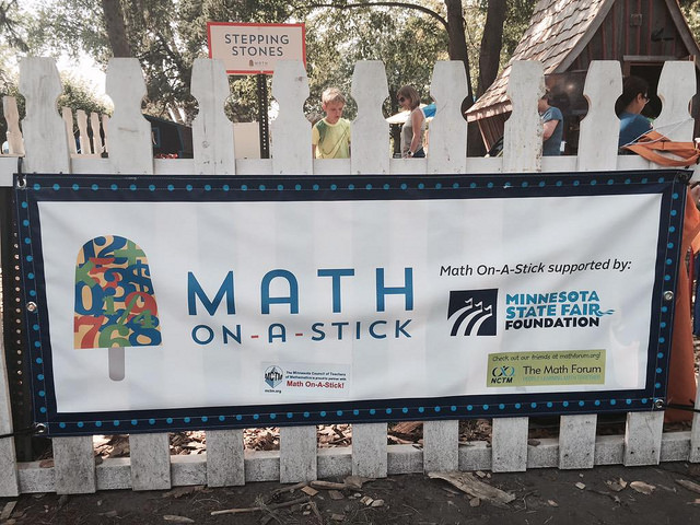 Math On-A-Stick: an annual large-scale, playful family math event at the Minnesota State Fair